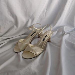 Ivory Caparros Wedding/Formal Comfortable Heel
